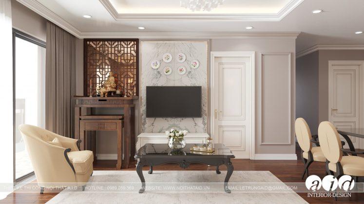 Căn hộ Tân cổ điển 3 phòng ngủ 105m2 Sunshine city - Mrs. Hương